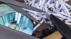 Can shred CDs Cardboard and Staples