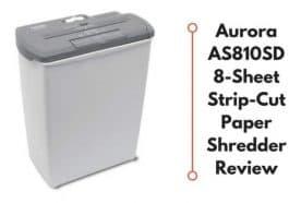 Aurora AS810SD Paper Shredder