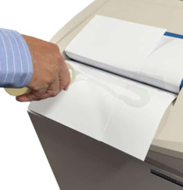 Zig Zag Oil on paper shredder
